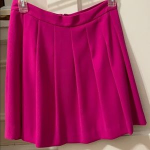 Jcrew pink pleated skirt